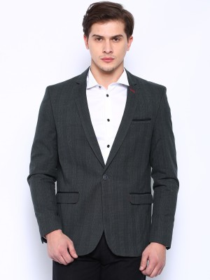 Harvard Checkered Single Breasted Casual Men's Blazer