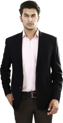 ManQ Solid Single Breasted Formal Men's Blazer