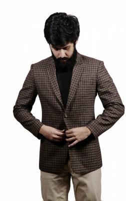 Fadjuice Self Design Single Breasted Casual Men's Blazer