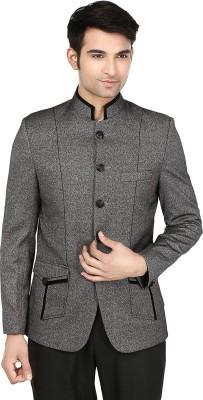 Platinum Studio Self Design Mandarin Casual Men,s Blazer