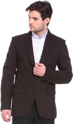 TAG 7 Solid Single Breasted Formal Men's Blazer