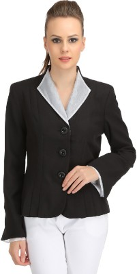 Ozelstudio Solid Single Breasted Casual Women's Blazer