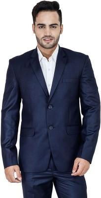 Bluethreads Solid Single Breasted Formal Men's Blazer
