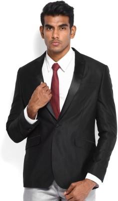 Protext Premium Solid Tuxedo Style Formal Men's Blazer