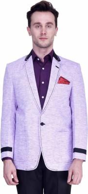 Protext Premium Self Design Single Breasted Casual, Party, Formal, Festive, Wedding, Sports Men's Blazer