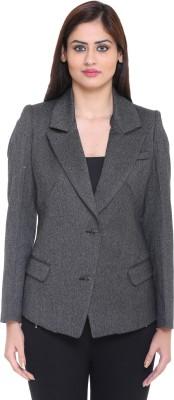 Trufit Striped Single Breasted Casual Women,s Blazer