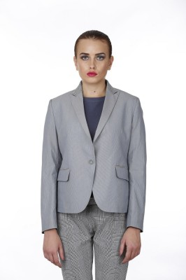 Baba Rancho Solid Single Breasted Formal Women's Blazer