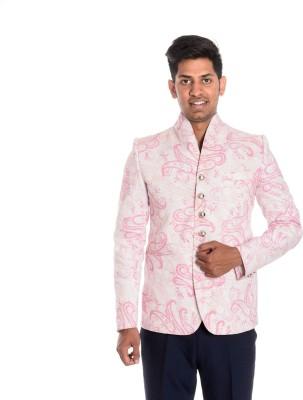Idlindia Printed Single Breasted Lounge Wear, Party Men's Blazer