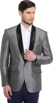 Canary London Solid Tuxedo Style Casual, Party, Formal, Wedding Men's Blazer