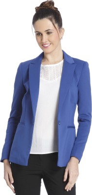 Only Solid Single Breasted Casual Women's Blazer
