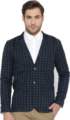 FIFTY TWO Checkered Single Breasted Casual Men's Blazer