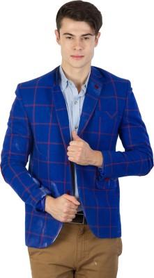 Burdy Checkered Single Breasted Formal Men's Blazer