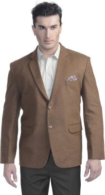 Luxurazi Solid Single Breasted Casual Men's Blazer