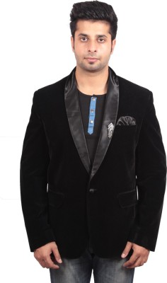 Shaurya-F Solid Double Breasted Casual Men's Blazer