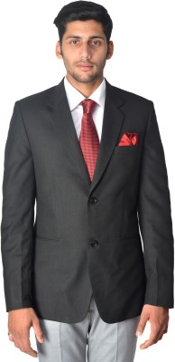 PANACHE Solid Single Breasted Formal Men's Blazer