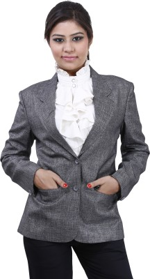 Devis Self Design Single Breasted Formal Women's Blazer