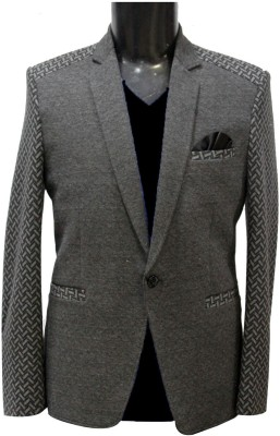 KM-NX Solid, Checkered Double Breasted Casual Men's Blazer