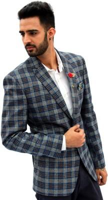 Men In Class Self Design Single Breasted Party Men's Blazer