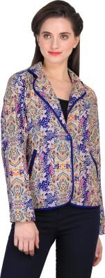 Sierra Printed Tuxedo Style Casual Women's Blazer