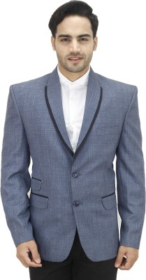 Bluethreads Solid Single Breasted Party Men's Blazer