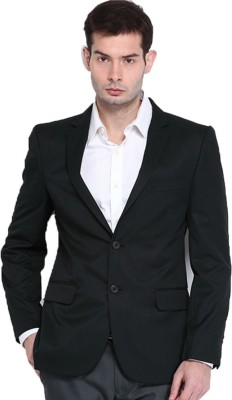 Menjestic Solid Single Breasted Formal Men's Blazer