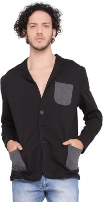 LUCfashion Solid Single Breasted Casual Men's Blazer