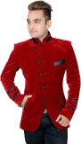Shaurya-F Solid Tuxedo Style Party Men's...
