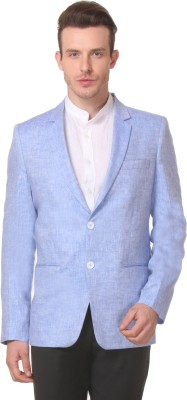 Yell Solid Single Breasted Party Men's Blazer