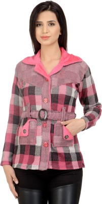 Sanvi Traders Womens Button Cardigan