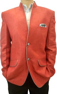 Indian Heritage Solid Mandarin Casual Men's Blazer