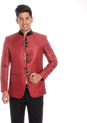 Idlindia Checkered, Woven Single Breasted Lounge Wear, Party Men's Blazer