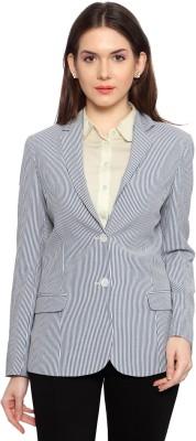 Allen Solly Striped Double Breasted Formal Women's Blazer