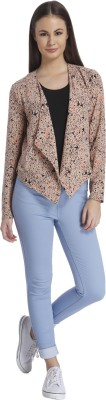 Only Printed Single Breasted Casual Womens Blazer(Brown)