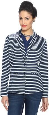 Allen Solly Striped Double Breasted Casual Women's Blazer