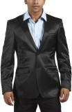 Parx Solid Single Breasted Formal Men's ...