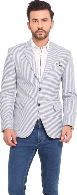 Exitplay Striped Single Breasted Party, Casual Men's Blazer