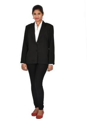 FashionClub Solid Single Breasted Formal Women's Blazer