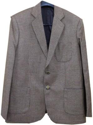 Rajindras Checkered Single Breasted Casual, Party Men's Blazer