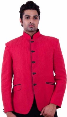 Dresscode Self Design Single Breasted Wedding, Casual, Party Men's Blazer