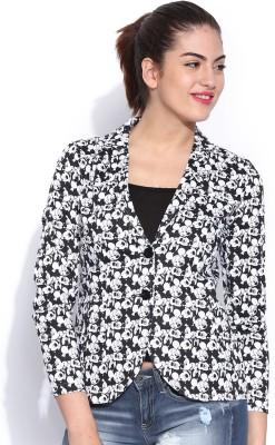 Kook N Keech Disney Printed Single Breasted Casual Women's Blazer