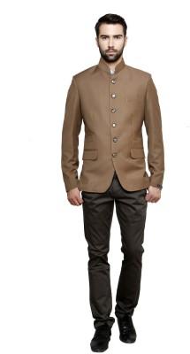 Richard Cole Solid Mandarin Party, Casual, Formal Men's Blazer