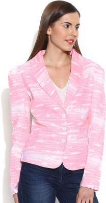 Colors Couture Printed Single Breasted Casual Women's Blazer