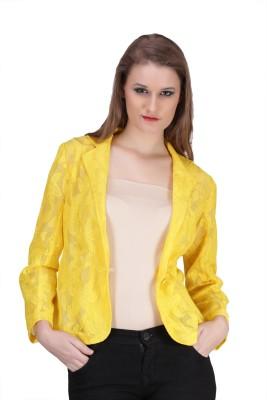 Sierra Self Design Single Breasted Formal Women's Blazer