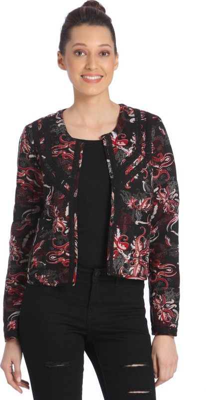 Vero Moda Printed Tuxedo Style Casual Women's Blazer(Red, Black)