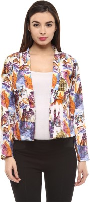 Martini Printed Single Breasted Casual Women's Blazer