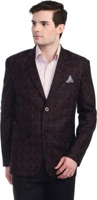 Luxurazi Checkered Single Breasted Party Men's Blazer