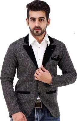 Spannick Designer Solid Single Breasted Festive Men's Blazer