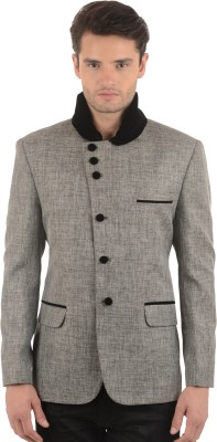 Azio Design Solid Mandarin Casual Men's Blazer