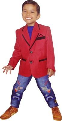RLBFashion Solid Mandarin Party Boy's Blazer
