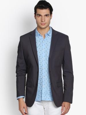 Black Coffee Checkered Single Breasted Formal Men's Blazer